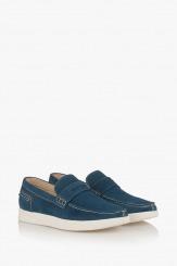 Сини велурени мъжки обувки Скот