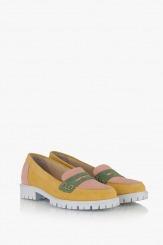 Велурени дамски летни обувки Лизи