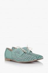 Зелени дамски обувки с перфорация Канди