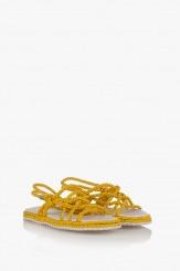 Жълти дамски сандали Флора