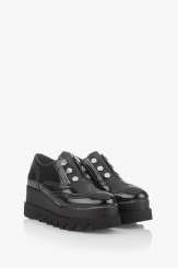 Дамски обувки на платформа в черно Алисан