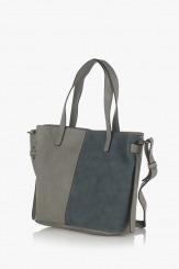 Дамска чанта в сиво и тъмно синьо Анис