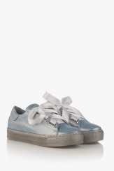 Сини кожени спортни обувки Дейзи