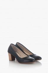 Черни дамски класически обувки на ток Одри