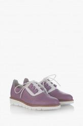 Дамски обувки с перфорация Хана в лилаво