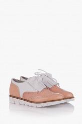 Дамски обувки с аксесоар Адисан цвят пудра