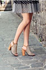 Дамски сандали в бежов цвят Марсела