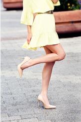 Дамски обувки на висок ток в бежово Наоми