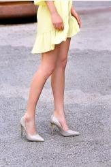 Сиви дамски обувки на висок ток Наоми