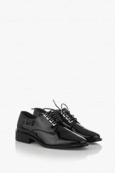 Класически дамски обувки в черен лак Коралайн