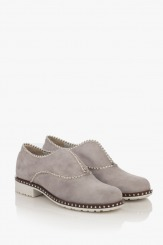 Дамски велурени обувки в сиво Анастаси
