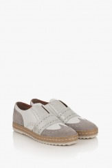 Ежедневени дамски обувки от велур и кожа Елла