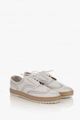 Кожени дамски обувки в бяло Анабел