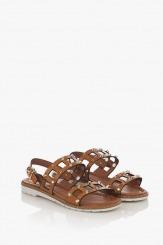 Дамски сандали жвят карамел Аманда