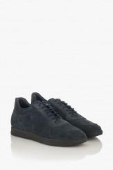 Сини велурени мъжки обувки Крисчън