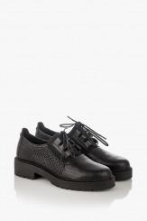 Черни дамски кожени обувки Дороти