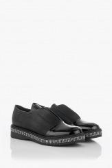 Кожени дамски обувки в черно Равена