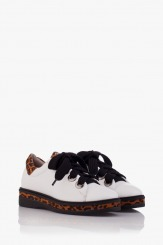 Кожени дамски спортни обувки с леопардов принт Алис