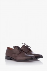 Мъжки елегантни обувки Грийн в кафяво