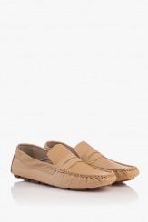 Бежови мъжки кожени обувки Робърт