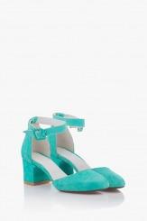 Велурени дамски сандали на ток Луиселла