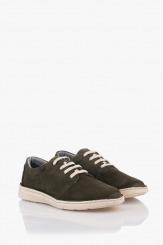 Зелени велурени мъжки обувки с връзки Франко