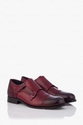 Кожени мъжки класически обувки в бордо Патерсън