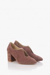Велурени дасмки обувки Йоланда