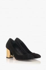Черни дамски велурени обувки Бевърли