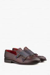 Кожени мъжки обувки в кафяво Виктор
