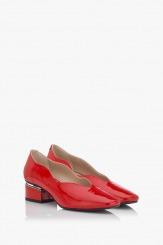 Червени лачени обувки Нора