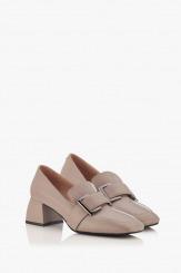Кожени дамски обувки на ток Елла