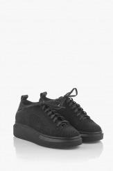 Черни дамски спортни обувки Луиса