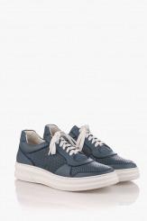 Сини мъжки кожени спортни обувки Матю