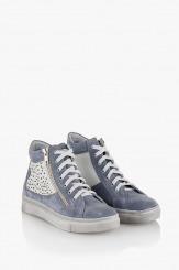 Дамски спортни обувки Мабел сив велур