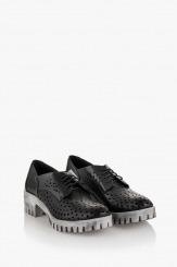 Дамски перфорирани обувки Джилиан в черно