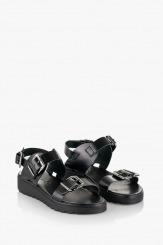 Черни дамски сандали Катерини