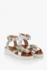 Дамски сандали Катерини сребро