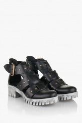 Дамски сандали Сесили кожа черен