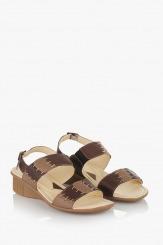 Дамски сандали Софи в кафяв цвят