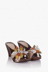 Кожени дамски сандали Каръл цветни