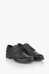 Кожени мъжки обувки Базил в черен цвят