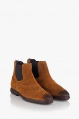 Мъжки велурени боти Клейтън цвят карамел