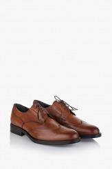 Кожени мъжки обувки Джими цвят карамел