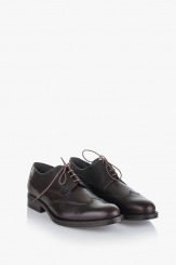 Кафяви кожени мъжки обувки Джими