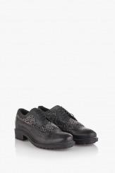 Черни мъжки обувки с връзки Дориан