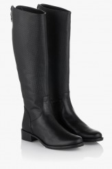 Зимен дамски ботуши с топъл хастар Кейси черно