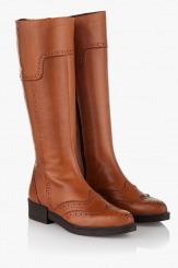 Зимни дамски ботуши цвят карамел Илиас