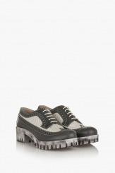 Дамски обувки в сиво и айс Алесандриа