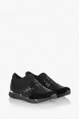 Дамски спортни обувки с черни пайети Зари